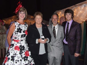 Pictured is Cindy Eubanks, AL Terry Jewelry Chest winner, along with Holly Gray, and Alan, Alex and Jeanine Terry.